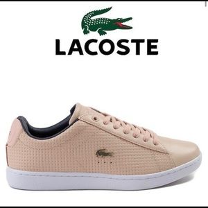 NWT LACOSTE CARNABY EVO BLUSH SIZE 7.5